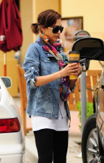 Jessica Alba wearing Charley 5.0 Leaving on a Jet Plane denim parka
