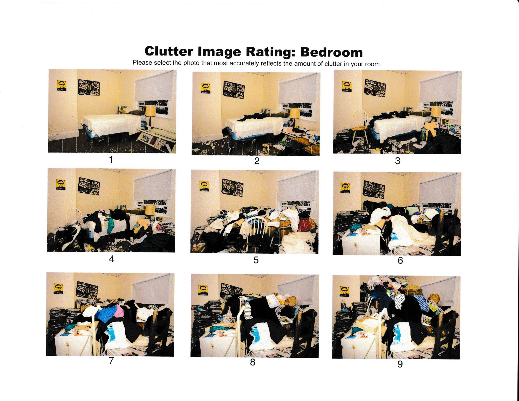 Clutter Image Rating Scale Bedroom24