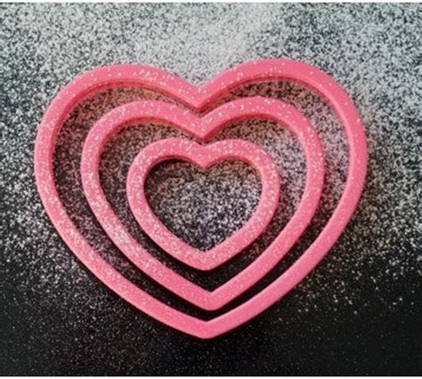 Heart & Valentines love shape cookie cutters