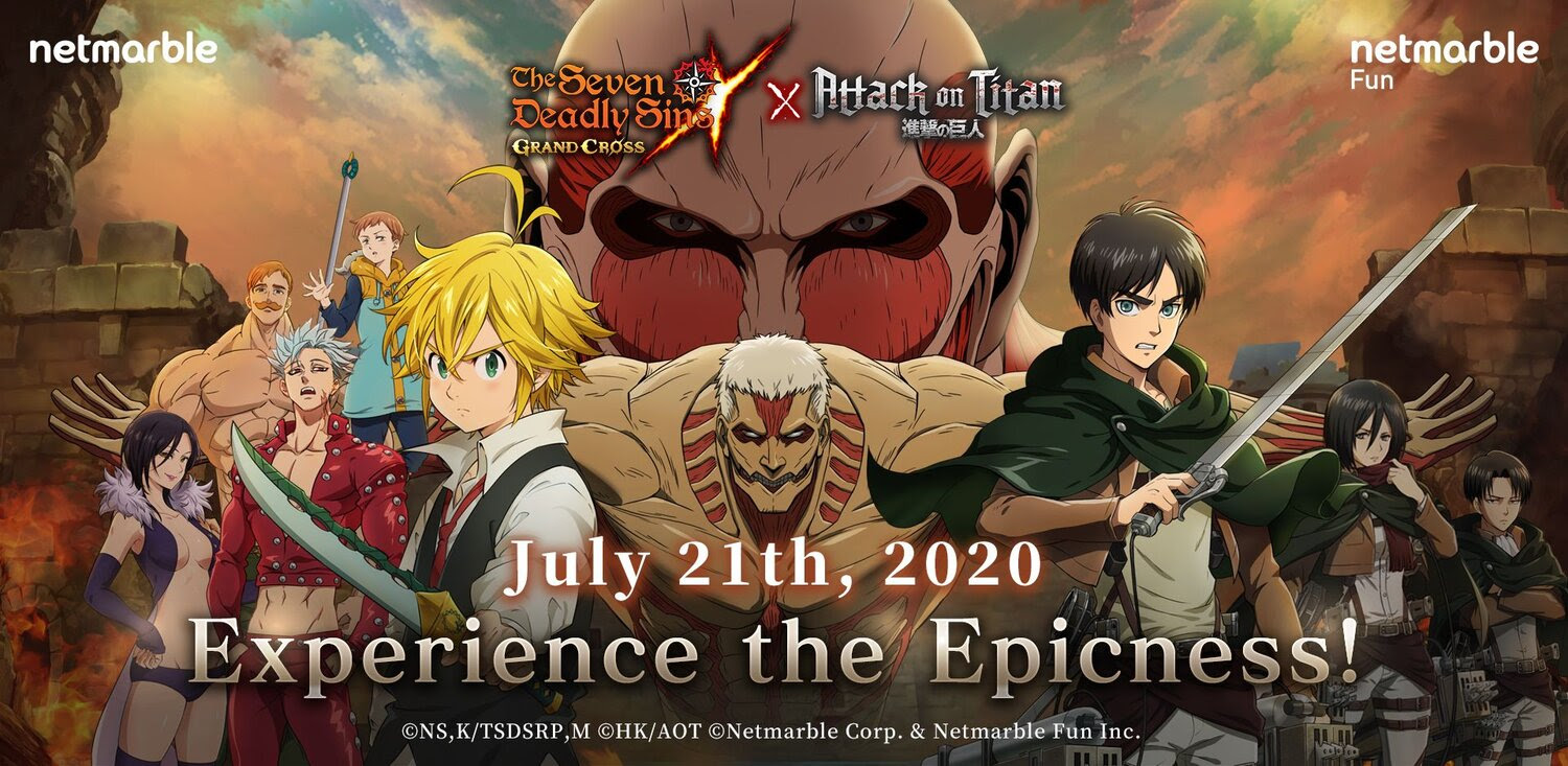 The Seven Deadly Sins And Attack On Titan Crossover In The Seven Deadly Sins Grand Cross Mobile Game Geektyrant
