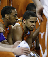 Texas Guards A.J. Abrams and D.J. Augustin