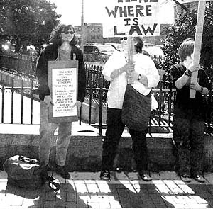 A Boston protest against Cardinal Law