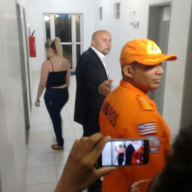 Lidiane Leite e seu advogado Sérgio Muniz