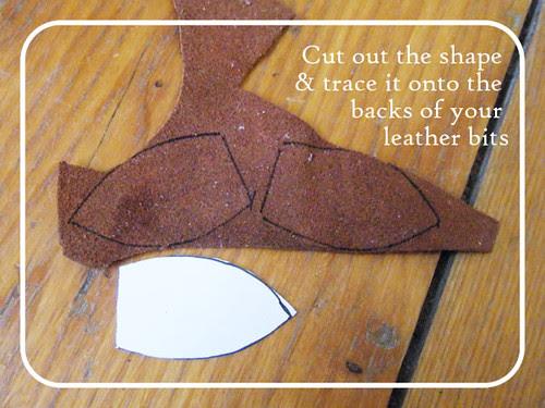 Scrappy leather headband 4