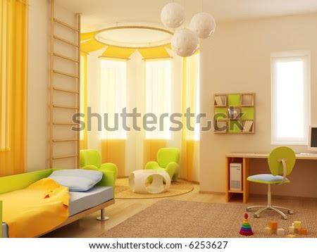 Room Interior  Kids on 3d Interior Of The Children S Room Stock Photo 6253627   Shutterstock