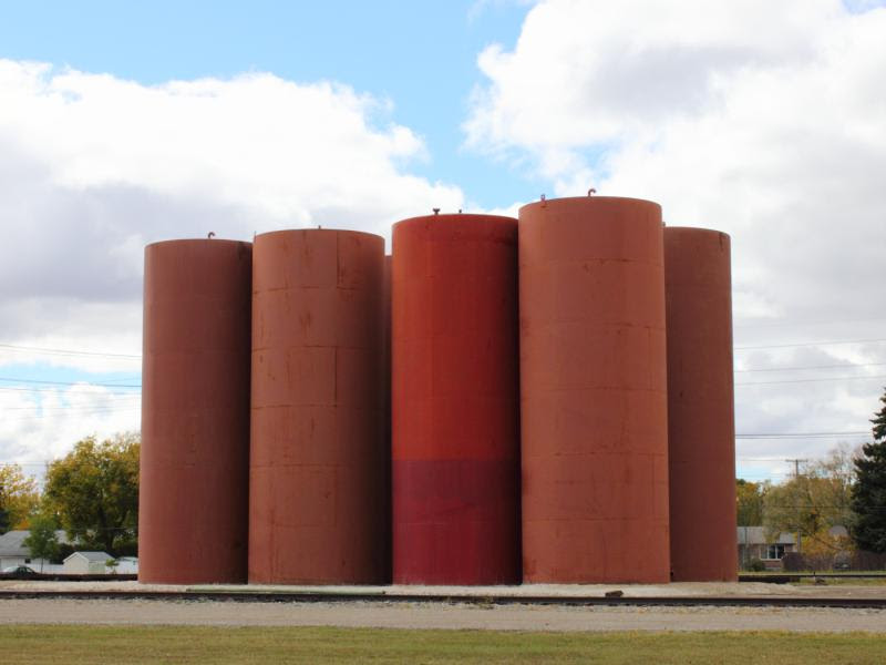 Fort Distributor silos in Winnipeg