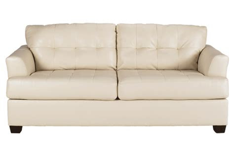 ashley furniture leather ivory sofa  furniture