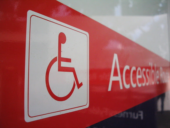 Accessibility route sign