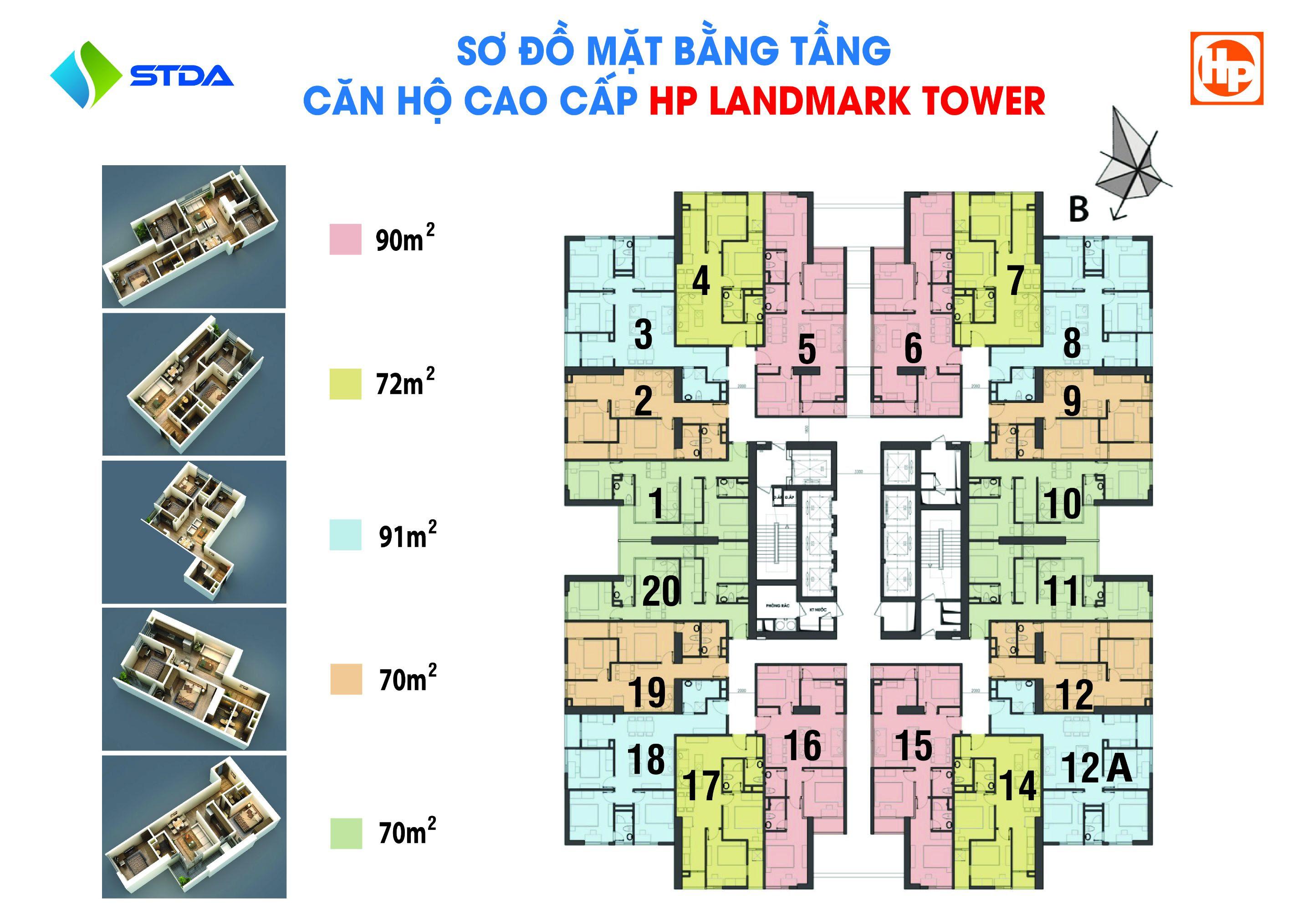 Sơ đồ mặt bằng HP Landmark Tower