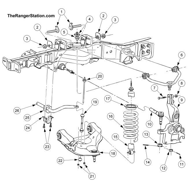 Wiring Diagram  35 2001 Ford F150 Front Suspension Diagram
