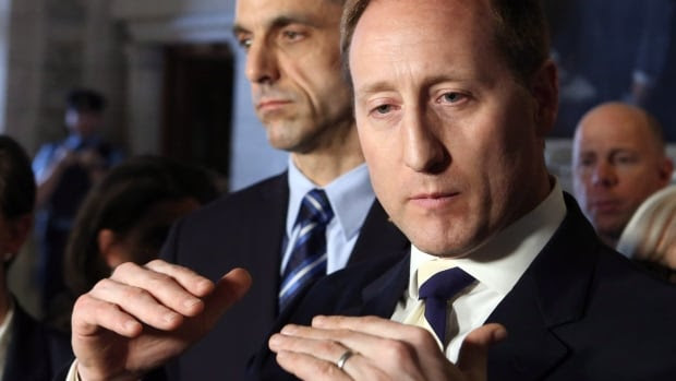 Justice Minister Peter MacKay, right, told reporters Wednesday morning he has spoken with a number of police officers who favour a ticketing system for those caught with small amounts of marijuana.