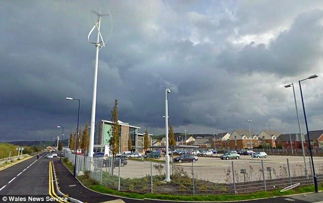 The Aberystwyth wind turbine