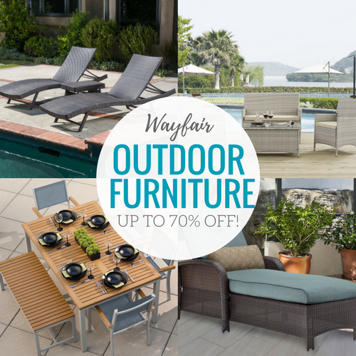 Wayfair Outdoor Furniture Sale with up to 70% off!