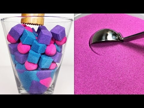 Very Satisfying and Relaxing Kinetic Sand ASMR.