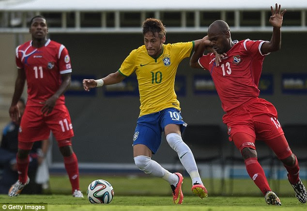 Golden boy: Neymar has the hopes of a nation resting on his shoulders