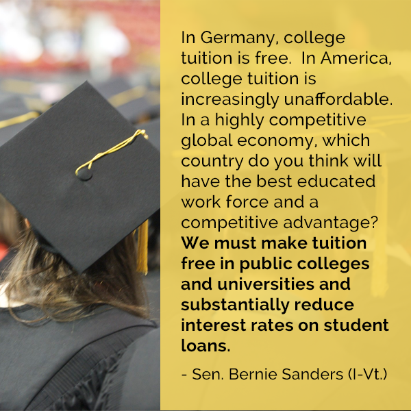 Better World Quotes Bernie Sanders On College Education