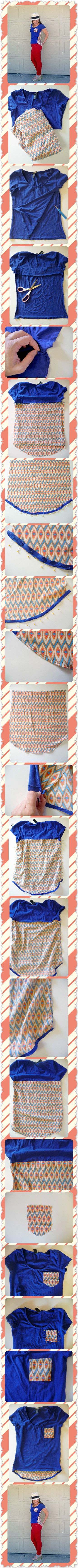 Anthropologie Pattern/Pop Tee Knock-Off Tutorial