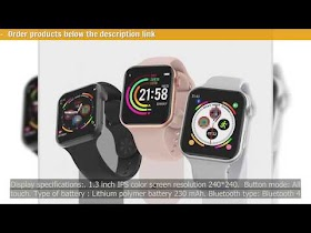 F10 Smart Watch Full Touch Screen Heart Rate Blood Pressure Sports Track...