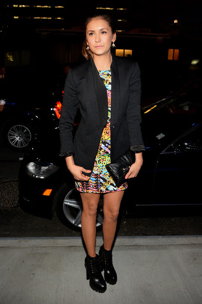 Nina Dobrev - Versus Versace - Arrivals - Mercedes-Benz Fashion Week Spring 2015