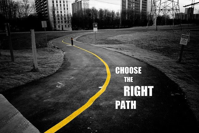 Choosing The Right Path Quote Quote Number 624050 Picture Quotes