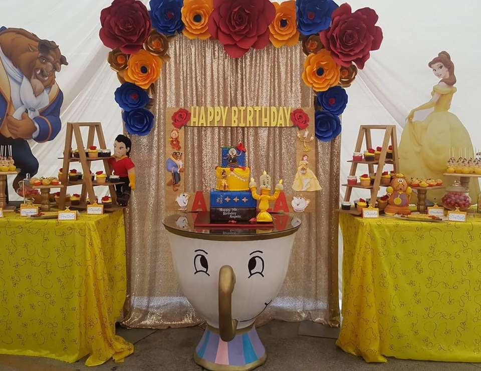 Angelas Beauty and the beast Birthday Party - Belle / Beauty and the Beast