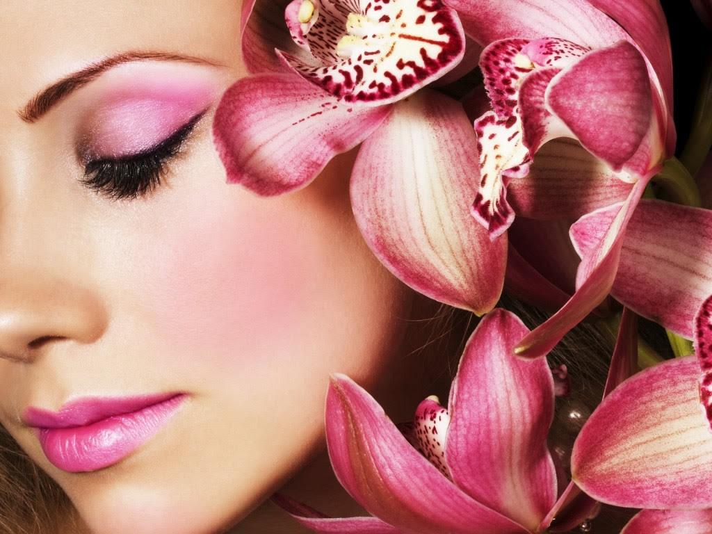 Belleza Y Flores Fondos Con Mujeres