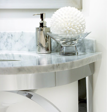 Modern Bathroom Console by Payma - CaesarStone and marble top