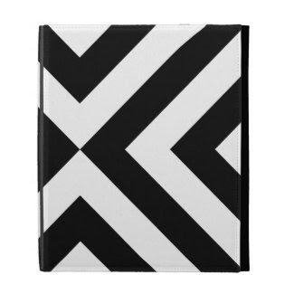 Black and White Chevrons Ipad Folio Case