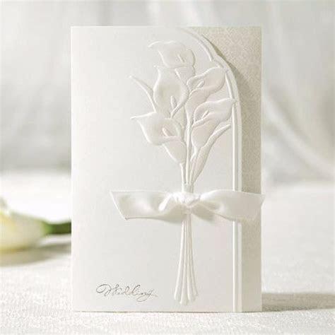 White Lily Embossed Ribbon Elegant Floral Wedding