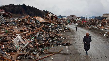 Die Stadt Rikuzentakata wurde  von dem Beben und dem Tsunami heimgesucht.