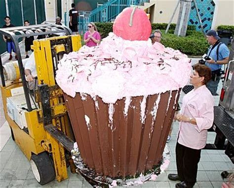 world?s largest cupcake the Guinness Book of World Records