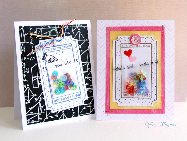 cards with confettie