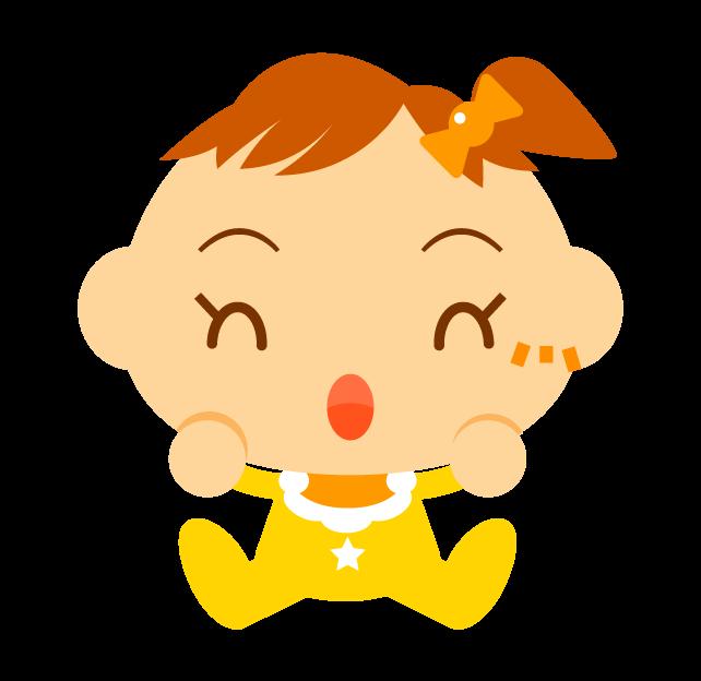 喜ぶ女の子の赤ちゃんイラスト黄色の服を着た女の子かわいいフリー