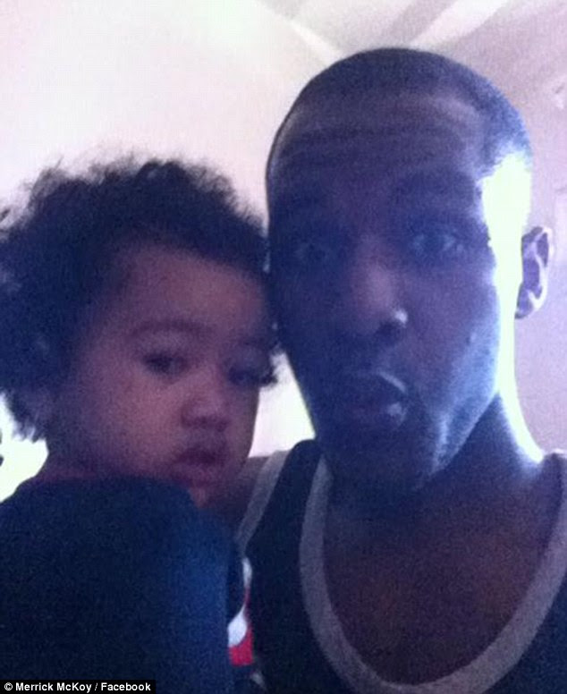 Chilling: Merrick McKoy posted this picture of him with Mia on Facebook before shooting her