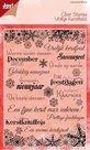 6410-0117 Noor! Clear stamps Vrolijk Kerstfeest kerstteksten
