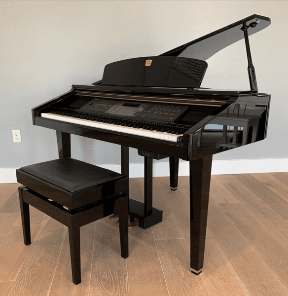 Yamaha Cvp 900 Digital Baby Grand Piano Polished Ebony Bayfront