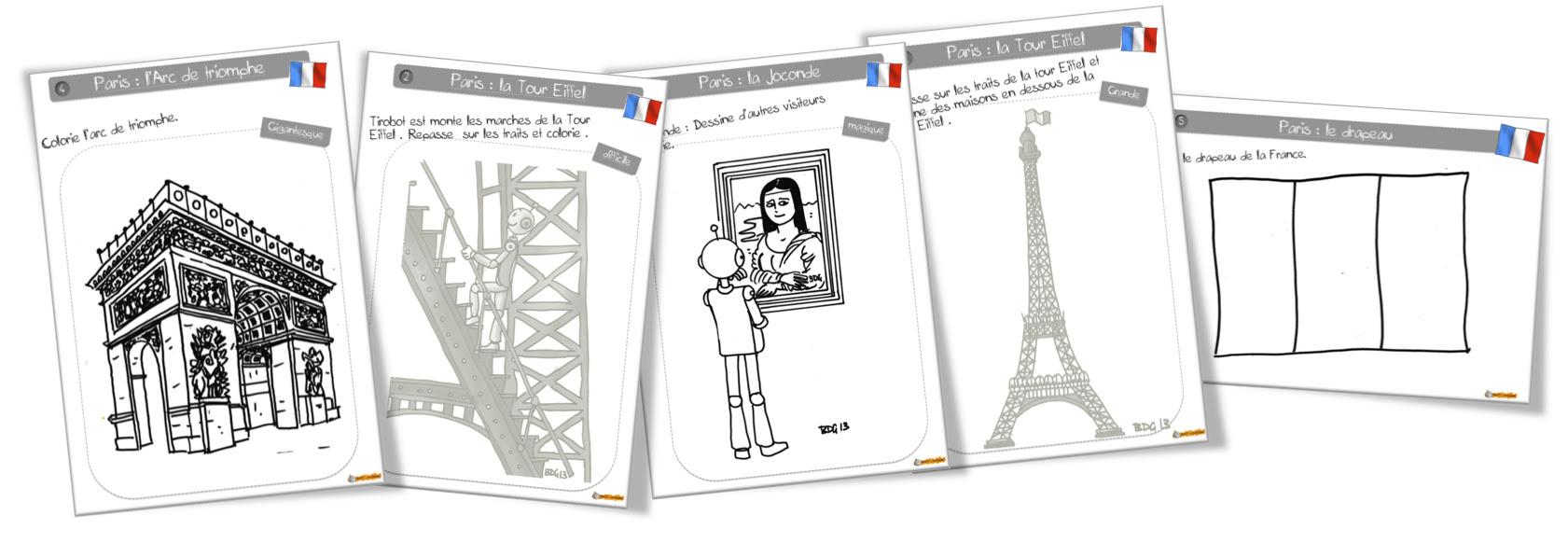 Coloriage De Paris à La Bout De Gomme Bout De Gomme