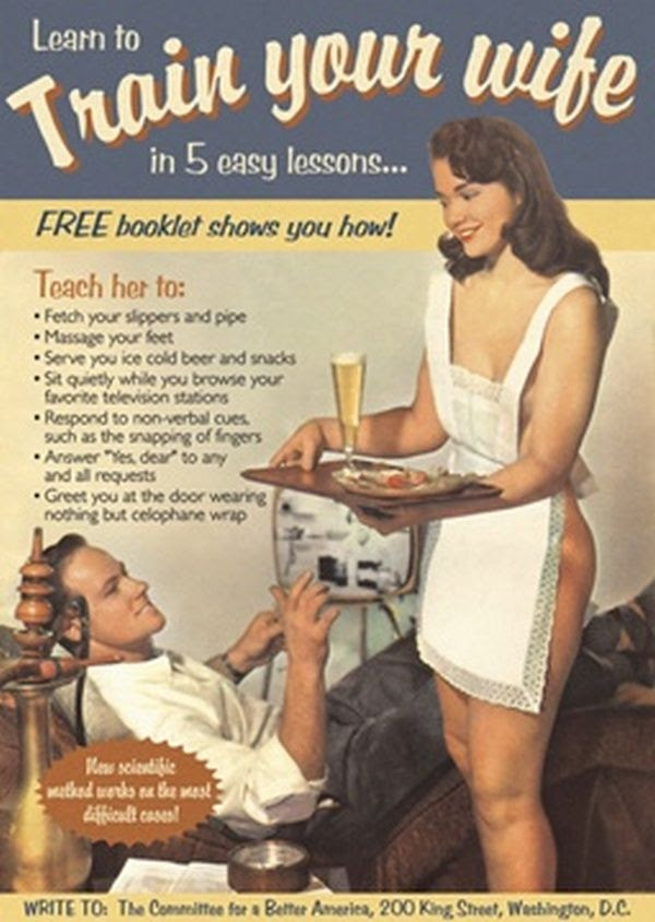 TRAIN YOUR WIFE vintage poste