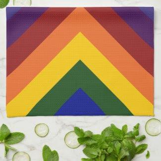 Rainbow Chevrons kitchentowel