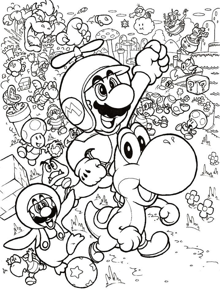 Dessin à Imprimer Mario Bros Vedkokeven Blogspot Com