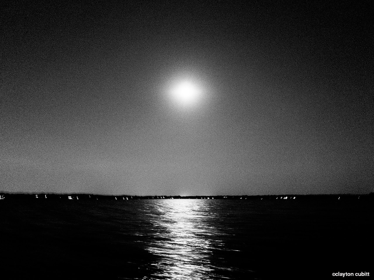 Full moon over Lake Minnetonka, Minneapolis  (3296)