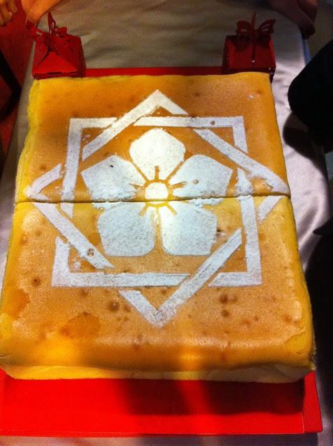 意外的驚喜,連工頭都不知道,工頭的妹妹做了一個超大的龍馬家紋蛋糕送給工頭