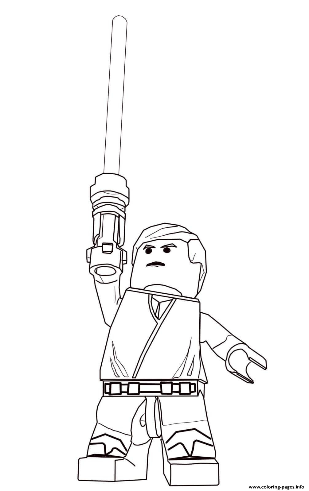 Print Lego Star Wars Luke Skywalker Coloring Pages Coloring Home