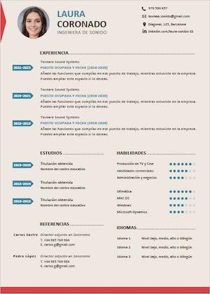 Descargar Modelo De Curriculum Vitae En Word Para Editar Gratis