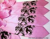 5 Lion Rampant Wedding ties. Men's silkscreen neckties, groomsmen discount, mix or match colors - mens neck ties
