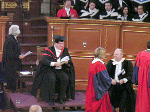 Degree ceremony at the University of Oxford. T...