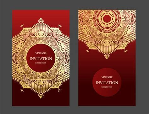 Wedding invitation or card with abstract background. Islam