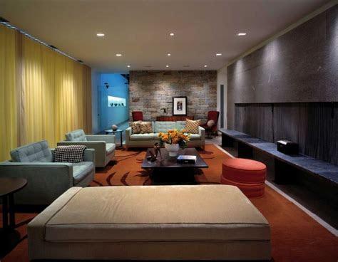 fantastic stone house renovation  modest living room