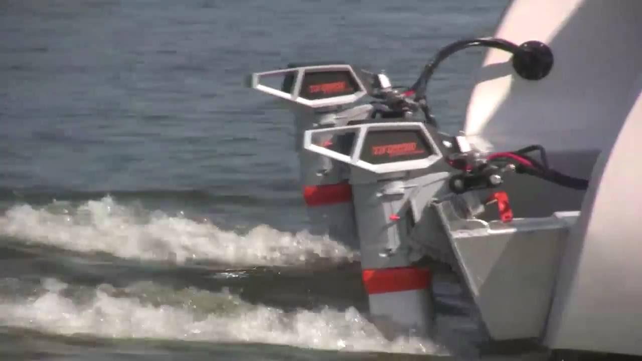 New Electric Boat - A 32 Foot Torqeedo Powered Catamaran: The Blue