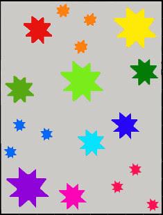 wonky star rainbow 1